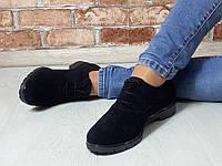 Туфли Saleks Классика Верх -Натуральная замша Цвет- Черный, Подкладка -натуральная кожа