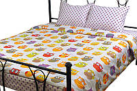 Комплект постельного белья из сатина семейный