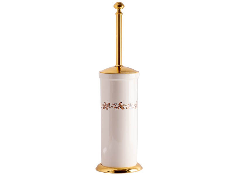 Йоржик для туалету підлоговий Kugu Medusa 732G, золото