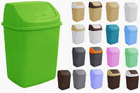 Ведро для мусора 18л в асорт 122065