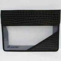 Папка пластик Josef Otten А-4 на липучке кожа черная PA 4-7034-1 (12)