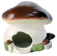 Домик для грызунов Гриб Белый 15*15*16 см керамика