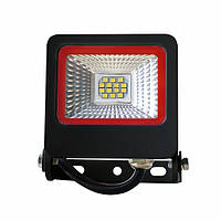 EUROELECTRIC LED SMD Прожектор черный с радиатором NEW 10W 6500K