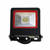 LED Прожектор Euroelectric NEW SMD 10W 6500K черный с радиатором