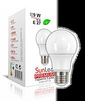 "LED лампа ""SunLed"" Е27 Premium 9Вт (аналог 100Вт)"