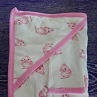 Полотенце-уголок для купания девочке