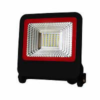 LED Прожектор Euroelectric NEW SMD 30W 6500K черный с радиатором, фото 1