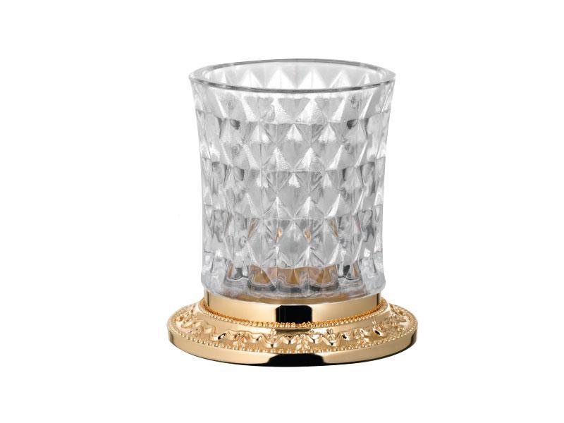 Стакан для зубних щіток настільний Kugu Odeon Freestand 450G, золото