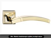 Дверная ручка  Metal-bud Alfa латунь матовая