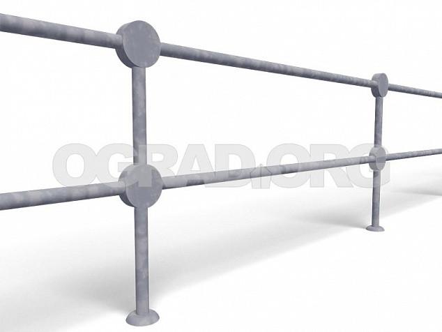 Перильные пешеходные ограждения ПО-2 (ОРУД)