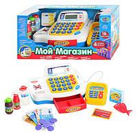Детский Кассовый аппарат 7020 обуч (цифры), кальк, микр, звук (укр), свет, на бат-ке,