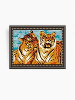 Схема на ткани под вышивку бисером Art Solo VKA3002. Тигры