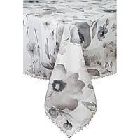 Скатерть с кружевом на стол 220х140 Прованс flowers
