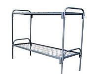 Кровать двухъярусная с металлическими быльцами