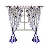 Шторы на шторной ленте Прованс Лаванда Living 170х140 комплект - 2 шт