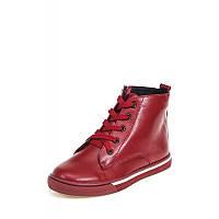 Ботинки кожаные на байке весенне осенние для девочки