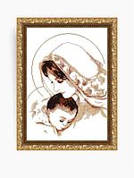 Схема на ткани под вышивку бисером Art Solo VKA3004A. Дева Мария с младенцем