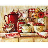 Картина по номерам Роспись на холсте Домашние сладости Вкусная полочка KH2208
