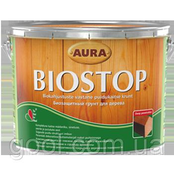 Грунтовка биозащина для древесины Эскаро Аура Биостоп ведро 9 литров