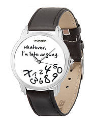 Часы наручные AndyWatch I am late white арт. AW 030-1
