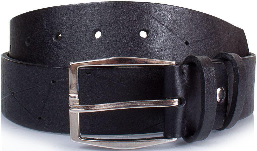 Элегантный мужской ремень из натуральной кожи 4 см SVETLANA ZUBKO (СВЕТЛАНА ЗУБКО) SVZA40113L, черный