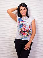 Женская шифоновая футболка