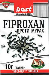 Инсектицид Фипроксан (10 г) – готовые гранулы для борьбы со всеми видами муравьев в помещении и на грунте