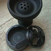 Комплект Силиконовая чаша AMY для кальяна и Kaloud Lotus рифленый  черный