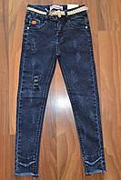 Джинсовые брюки СКИННИ для девочек оптом, Размеры 116-146 см .Фирма CHILDHOOD.Венгрия