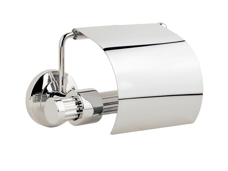 Держатель для туалетной бумаги с крышкой Kugu Maximus 611C, хром