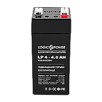 Кислотно-свинцовый аккумулятор  LogicPower AGM LP 4v-4a AH