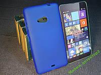 Чехол силиконовый Бампер Microsoft Lumia 535 (Nokia) синий