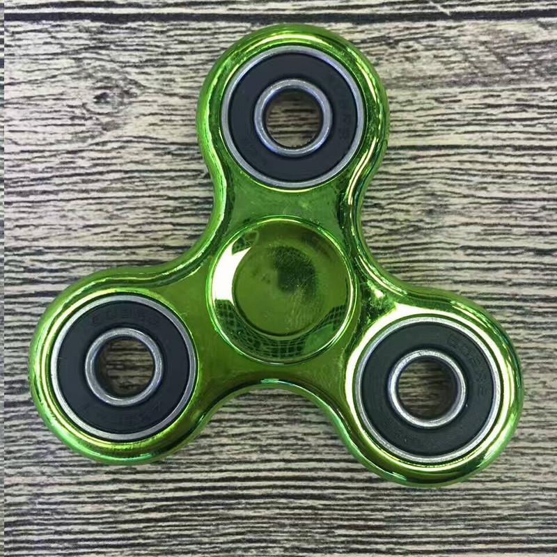 Спиннер вертушка Hand Spinner Metallic green