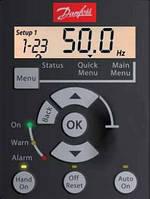 Панель управления Danfoss (Данфосс) LCP 12 с потенциометром для MicroDrive FC 51 (132B0101)