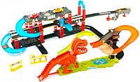 Автотрек с парковкой, трамплинами и Динозавром