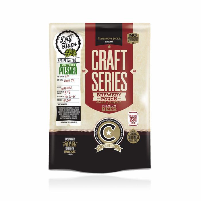 Экстракт пива Mangrove Jack's New Zealand Hopped Pils (2,2кг) с сухим хмелем