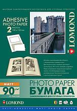 Односторонняя матовая самоклеящаяся фотобумага на 2 деление, А4, 90 г/м2, 25 листов