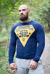 Стильный мужской свитер ручной работы