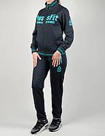 Женский спортивный костюм Reebok 1176 Тёмно-серый