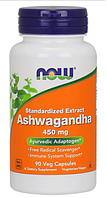 Ашвагандха, Now Foods, Ashwagandha Extract, 450 mg, 90 Caps