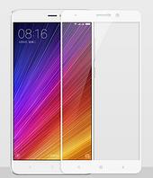 Закаленное защитное 3D стекло (на весь экран) для Xiaomi Mi 5S Plus (Белое)