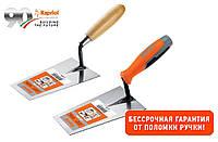 Кельма Kapriol с прямокутной лопаткой, 16-22 см, ручка трехкомпонентная или деревяная 20, деревя
