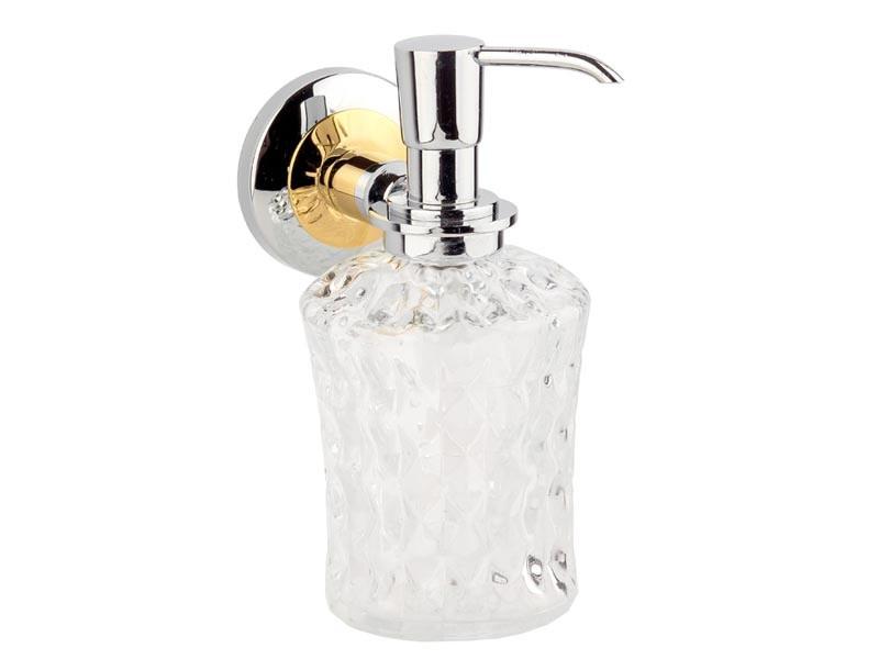 Дозатор для жидкого мыла Kugu Maximus 614C&G, хром-золото
