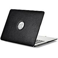 Кожаный чехол для MacBook Air 13 Kuzy Leatherette Hard Case Black
