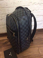 Рюкзак Louis Vuitton D1841 серо-черный