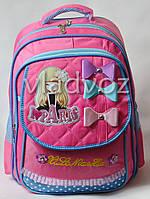 Школьный рюкзак для девочки Paris бантики розовый