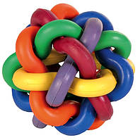 Мяч-клубок Trixie Knotted Ball для собак резиновый, разноцветный, 7 см