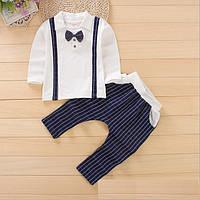 Костюм детский нарядный  кофта с имитацией подтяжек и штаны  для мальчика
