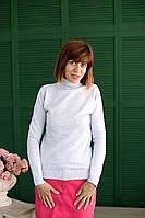 Гольф Many&Many женский, однотонный, цвет светло-серый.
