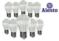 10 шт. Светодиодная LED лампа 3W, Лед лампа 3Вт ALESTO Eco Е27 3W 3Вт тёплая 3000К 10шт